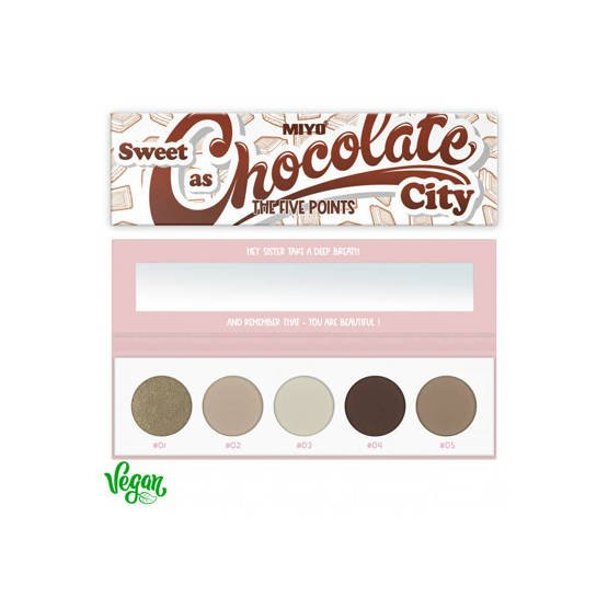 MIYO FIVE POINTS PALETTE Paleta cieni do powiek COLOR BOX EDITION 22 Sweet as chocolate city